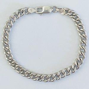 Unisex handmade 7mm chain bracelet 925 silver